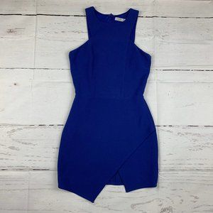 Tobi sleeveless asymmetric hem sheath dress C22